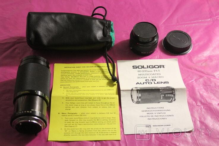 Soligor 80-200 + EOS-C/Y + 2x конвертер, фото №3