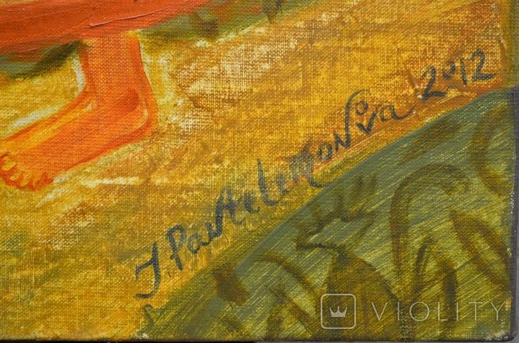 """Картина  """"Ой летели дикие гуси"""" 2012 г.  Художник Пантелемонова Инна., фото №3"""