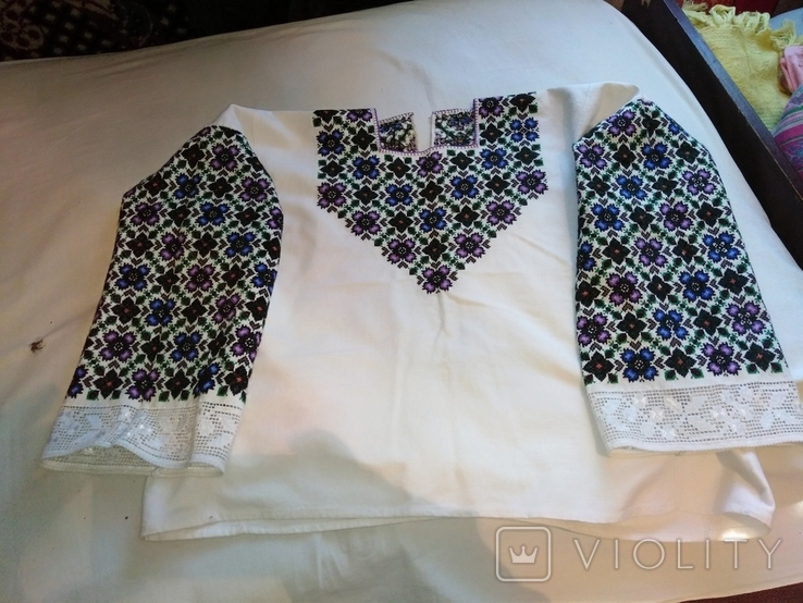 Сорочка вишита давня рукавка, фото №3