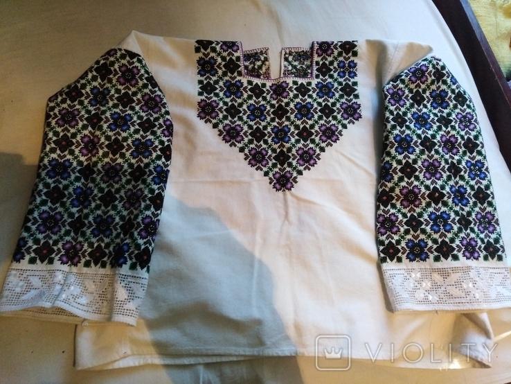 Сорочка вишита давня рукавка, фото №6
