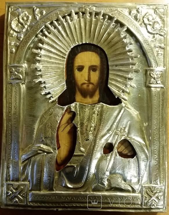 Ікона Ісус, латунь, 22,5х18 см, фото №2
