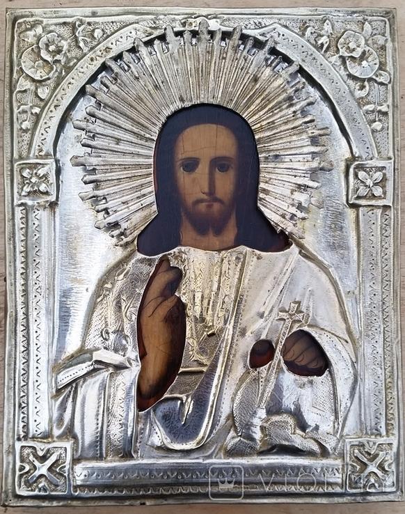 Ікона Ісус, латунь, 22,5х18 см, фото №4