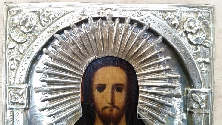 Ікона Ісус, латунь, 22,5х18 см, фото №5