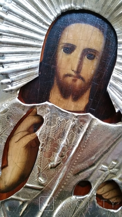 Ікона Ісус, латунь, 22,5х18 см, фото №8
