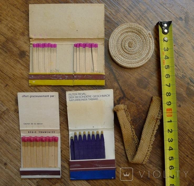 Фитиль в рулоне для керосиновых ламп и винтажные спички., фото №3