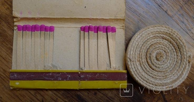 Фитиль в рулоне для керосиновых ламп и винтажные спички., фото №4
