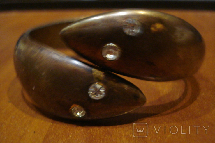 Медный браслет с камушками, фото №2