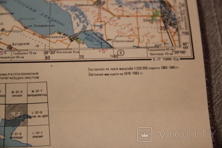 Карта генеральный штаб Мариуполь (Жданов) 1:500000 1986, фото №10