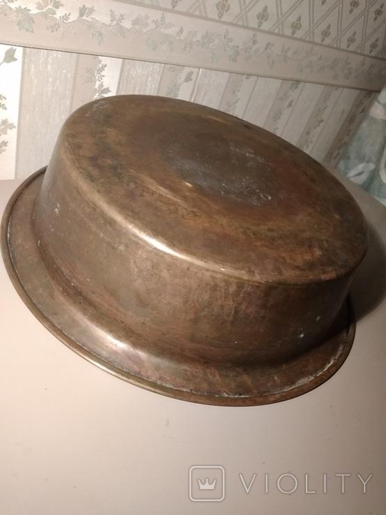 Таз, большой , СССР, Кольчугино, 60-е! Латунь, клеймо (1,3 кг), фото №6