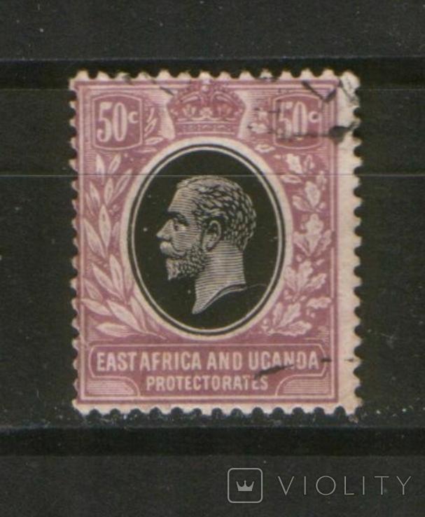 Брит. колонии. 1912 Протекторат Вост.Африки и Уганды, король Георг V
