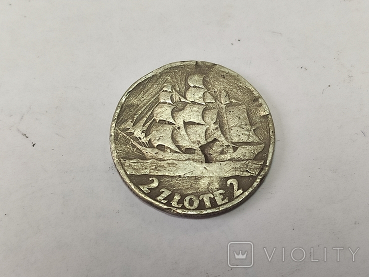 2 злотых 1936. Кораблик., фото №2