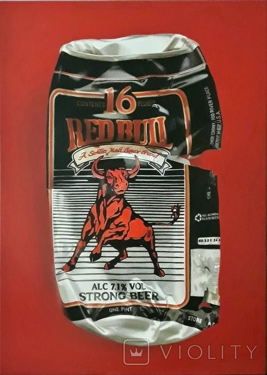 Red Bull, масло/холст, 50х70 см, фото №2