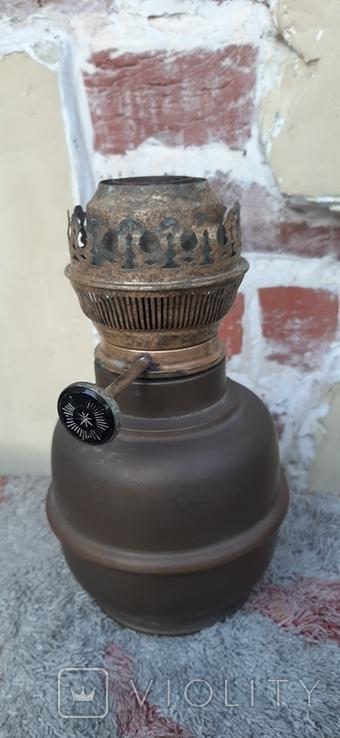 Керосиновая лампа, бронза, фото №2
