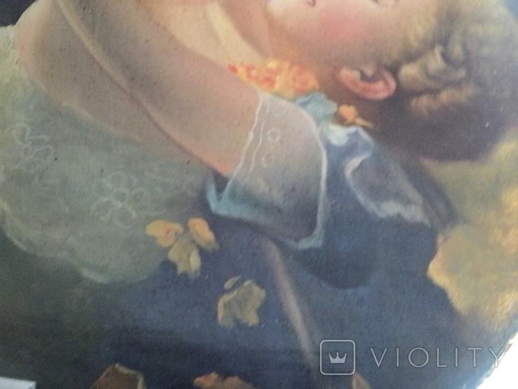 """Старинная картина""""Женщина с ребёнком"""", фото №4"""