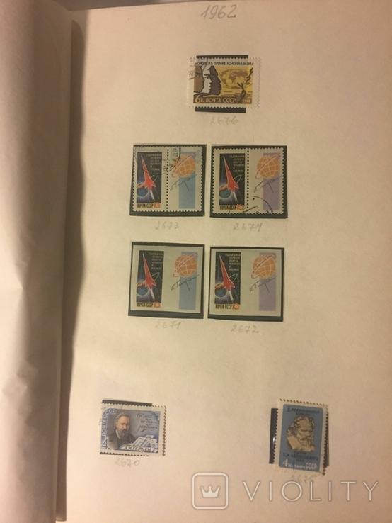 Альбом марок СССР 1962-65 гг. в клеммташах (546 м. + 6 бл.), фото №3