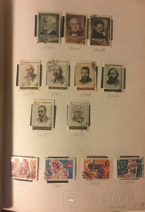 Альбом марок СССР 1962-65 гг. в клеммташах (546 м. + 6 бл.), фото №8
