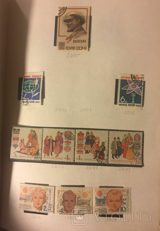 Альбом марок СССР 1962-65 гг. в клеммташах (546 м. + 6 бл.), фото №9