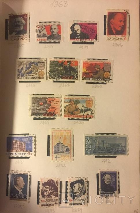 Альбом марок СССР 1962-65 гг. в клеммташах (546 м. + 6 бл.), фото №10
