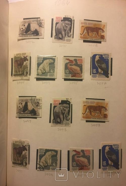 Альбом марок СССР 1962-65 гг. в клеммташах (546 м. + 6 бл.), фото №13