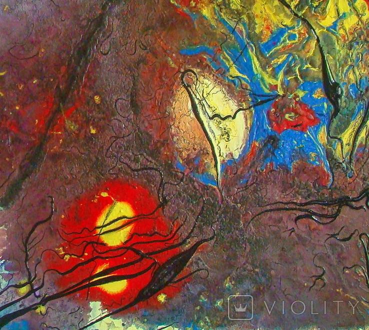 """Художник А.Лозовой, картина """"Песни сумеречных муравьёв 2"""", 60x80см., холст, масло, акрил, фото №4"""