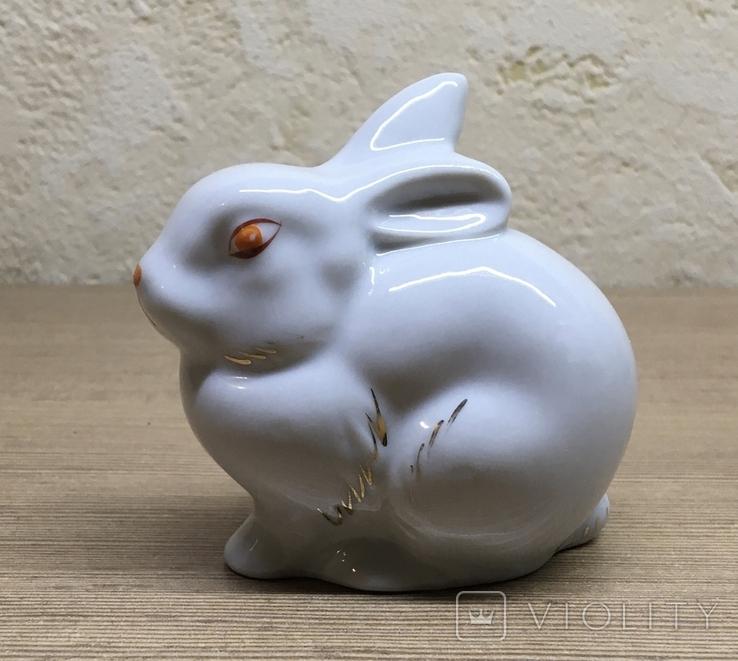 Статуэтка «Зайчик (Кролик)» / Полонное / Фарфор СССР, фото №2