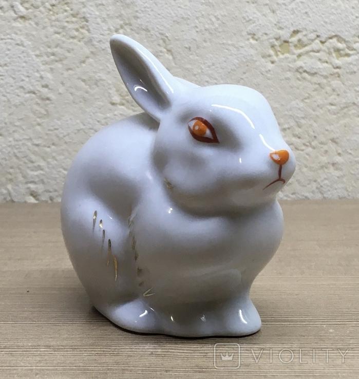 Статуэтка «Зайчик (Кролик)» / Полонное / Фарфор СССР, фото №5