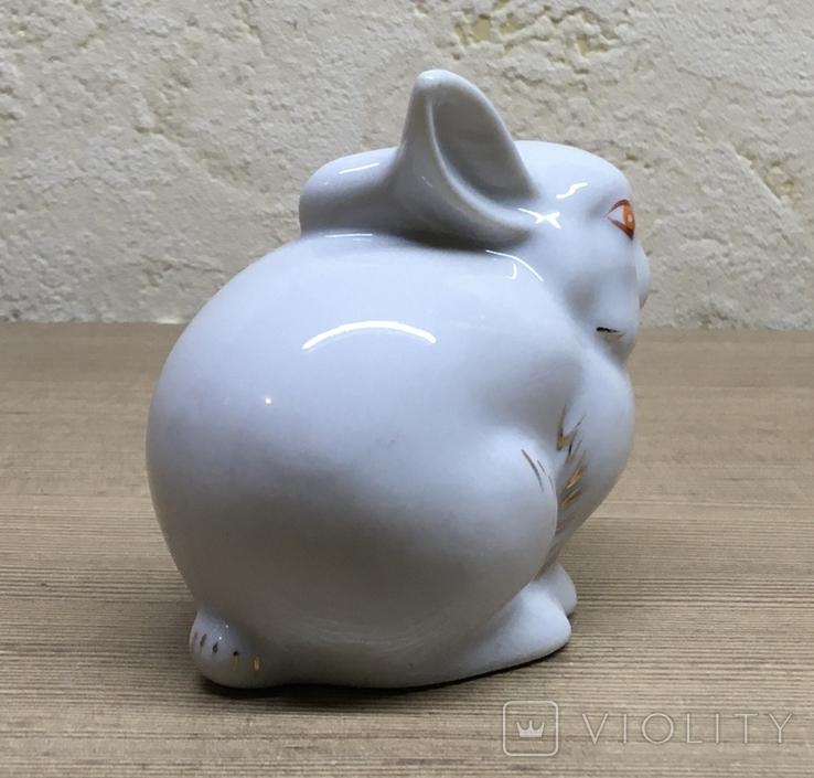 Статуэтка «Зайчик (Кролик)» / Полонное / Фарфор СССР, фото №8