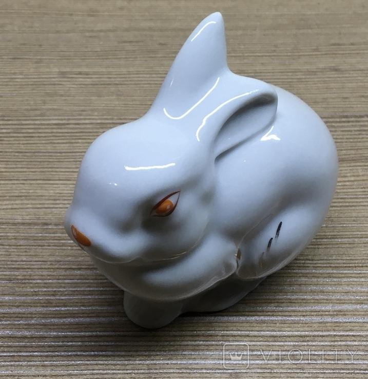 Статуэтка «Зайчик (Кролик)» / Полонное / Фарфор СССР, фото №9