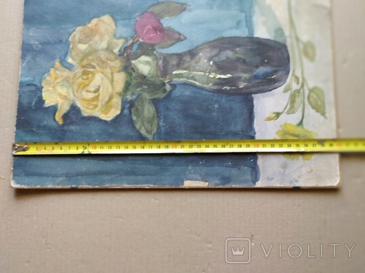 """Цветы"" б.акв., 40х28 см., худ.А. И. Вербицкая., фото №5"