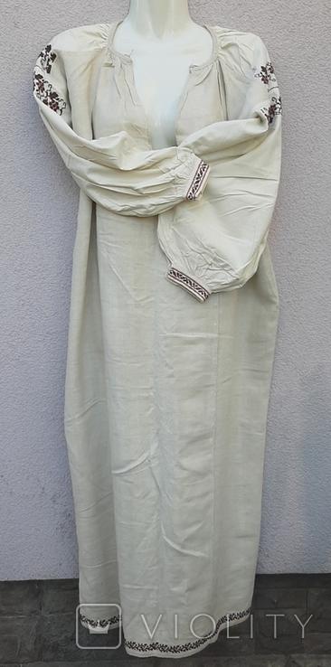 Сорочка из домотканого полотна,вышитая, фото №2