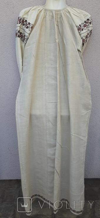 Сорочка из домотканого полотна,вышитая, фото №3