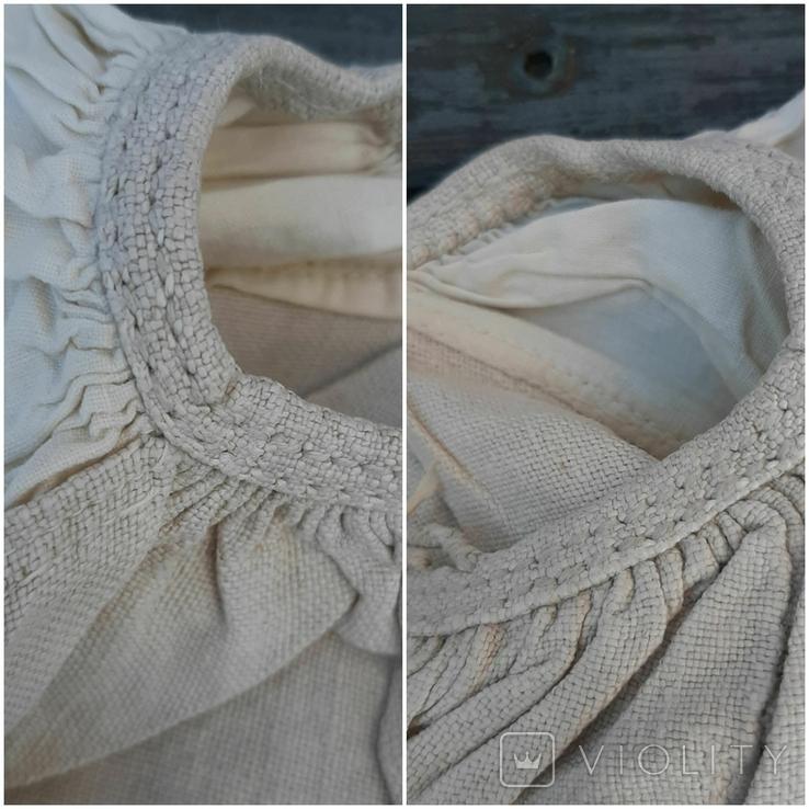Сорочка из домотканого полотна,вышитая, фото №6