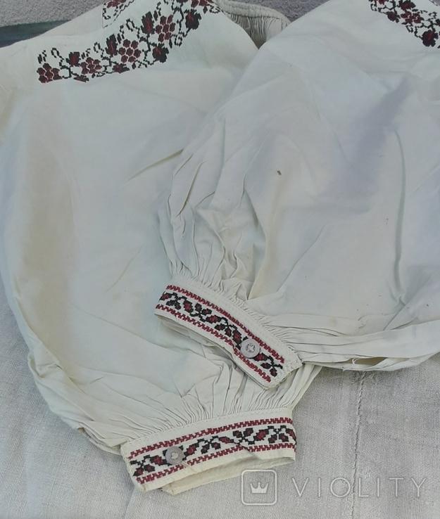 Сорочка из домотканого полотна,вышитая, фото №7