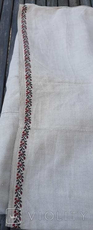 Сорочка из домотканого полотна,вышитая, фото №8