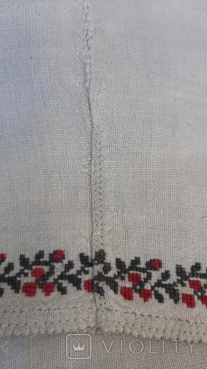 Сорочка из домотканого полотна,вышитая, фото №9