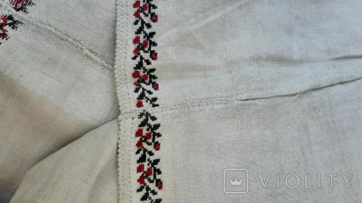 Сорочка из домотканого полотна,вышитая, фото №10