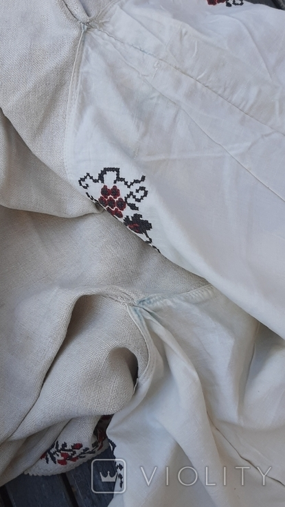 Сорочка из домотканого полотна,вышитая, фото №13