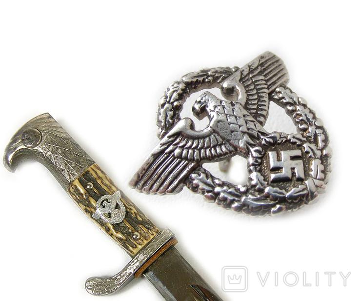III REICH птица курица имперский орел рукоятки штык ножа полиции Polizei (херш). Копия., фото №2