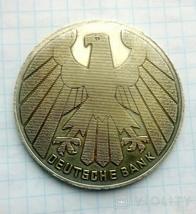 """Настольная медаль III Рейха Германии """"За 25 лет верного сотрудничества"""", КОПИЯ, фото №2"""