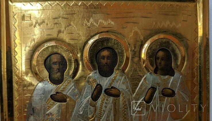 Икона св. Симон, св. Гурий и св. Авив, фото №4