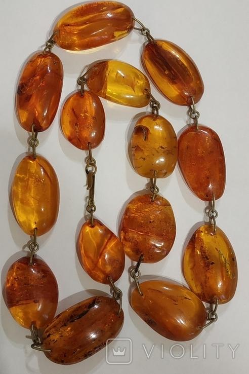 Бусы, ожерелье натуральный янтарь, фото №4