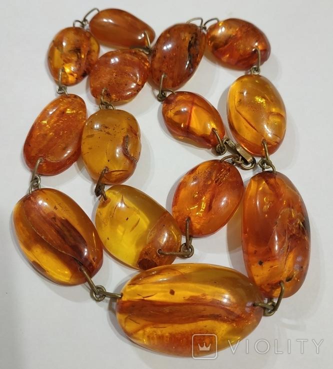 Бусы, ожерелье натуральный янтарь, фото №9
