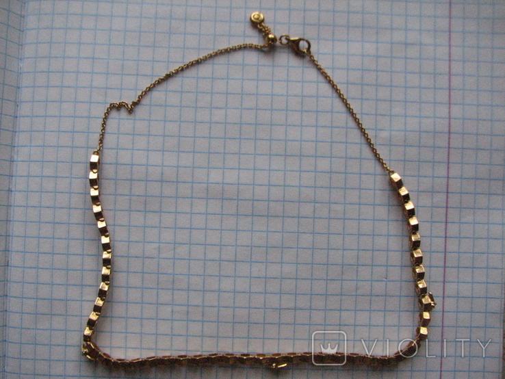 Цепочка.колье Limited Edition PANDORA Shine.серебро 925.позолота., фото №2