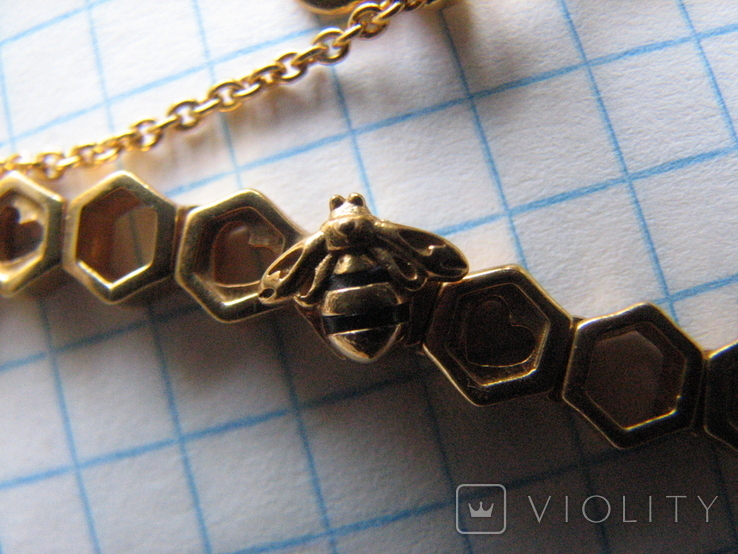 Цепочка.колье Limited Edition PANDORA Shine.серебро 925.позолота., фото №4