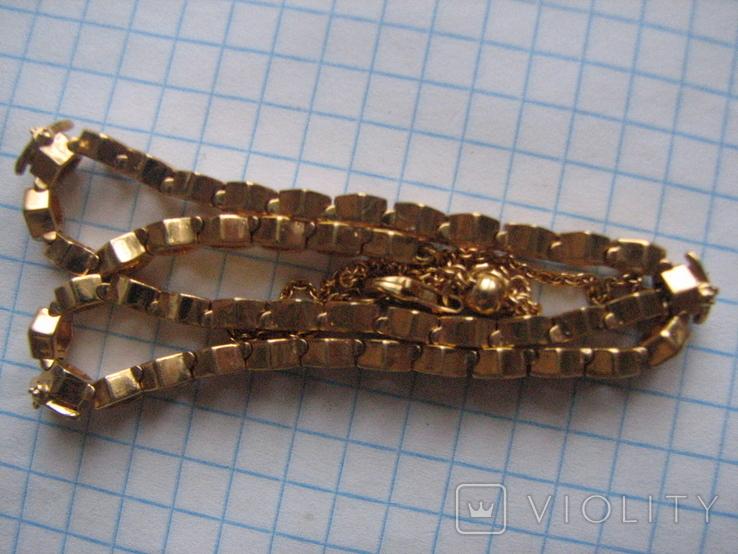 Цепочка.колье Limited Edition PANDORA Shine.серебро 925.позолота., фото №6