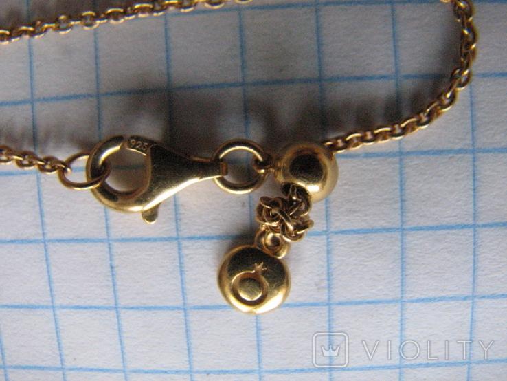 Цепочка.колье Limited Edition PANDORA Shine.серебро 925.позолота., фото №7