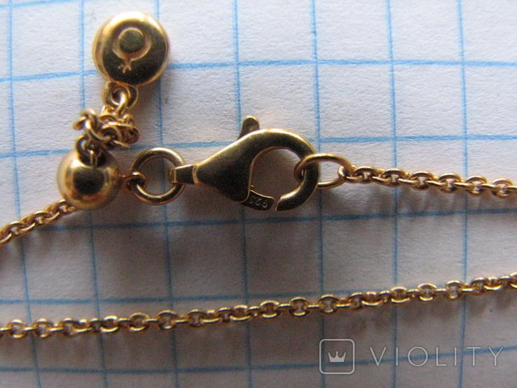 Цепочка.колье Limited Edition PANDORA Shine.серебро 925.позолота., фото №8