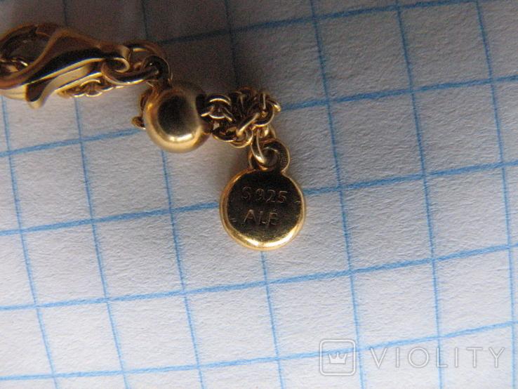 Цепочка.колье Limited Edition PANDORA Shine.серебро 925.позолота., фото №10