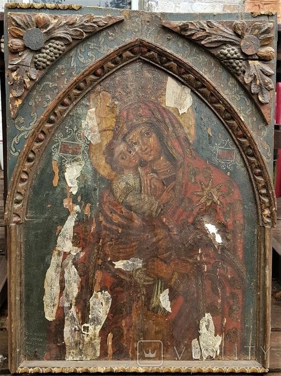 Ікона Божої матері Почаївська. Українське бароко. Підписна., фото №2