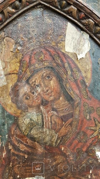 Ікона Божої матері Почаївська. Українське бароко. Підписна., фото №3